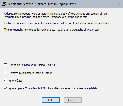 Detecting And Removing Duplicate Lines